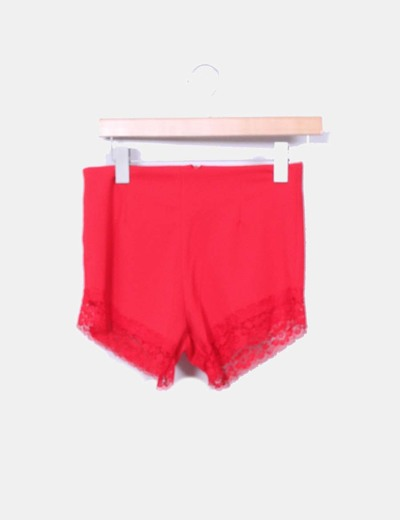 Short rojo con encaje NoName