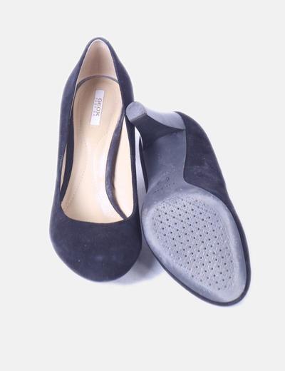 Zapato negro ante con puntera redonda