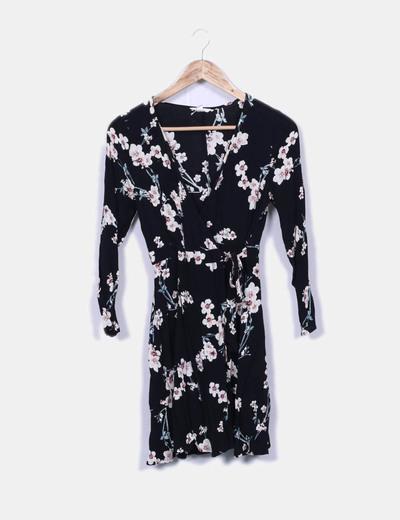 Robe noire imprimé floral Springfield