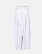 Pantalon blanc rayé bleu Monki