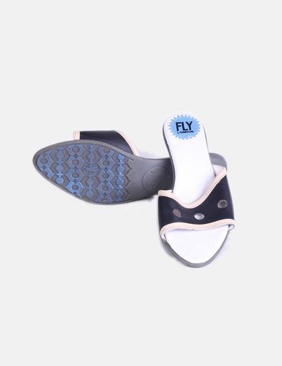 Sandalias destalonadas tacon mini