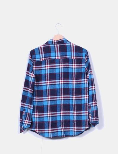 Camisa franela cuadros azules