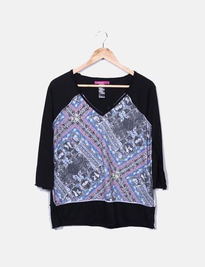 Camiseta estampada con pailettes Custo Barcelona