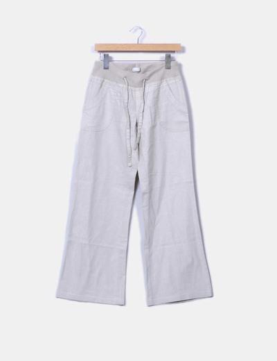 Pantalón de lino beige Vero Moda