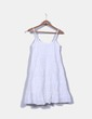Vestido blanco troquelado tirantes NoName
