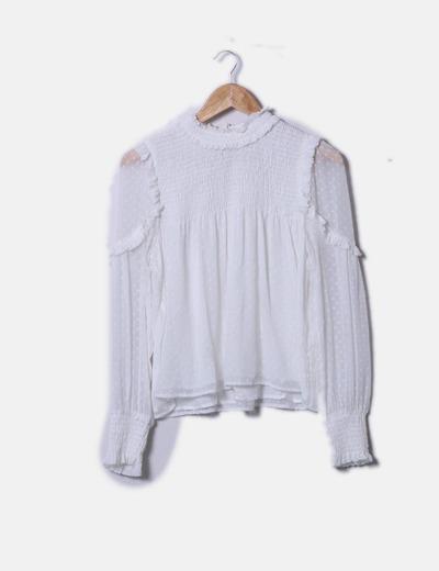 Blusa plumetti blanco