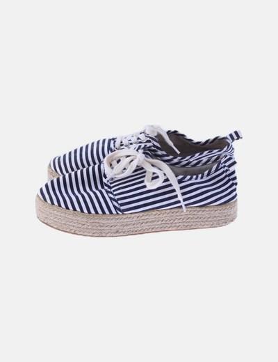 Zapatillas plataforma rayas
