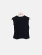 Camiseta negra manga sisa con pailettes Loewe