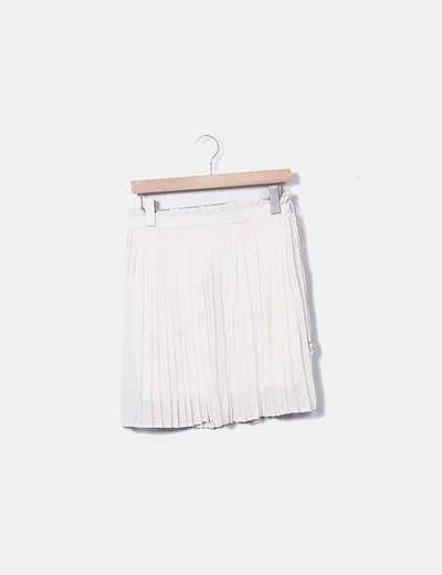 Falda nude plisada