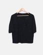Camiseta negra glitter con tachas Benetton