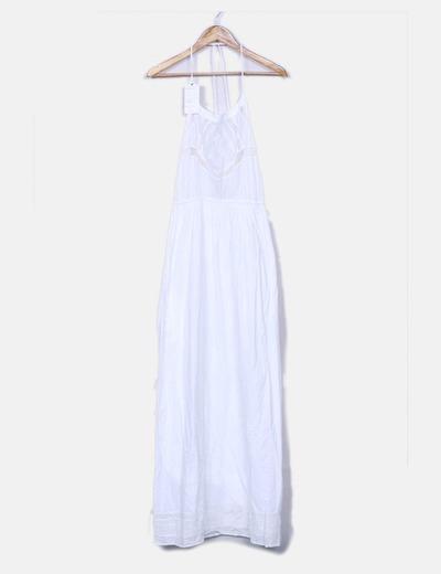 Maxi vestido blanco con bordados