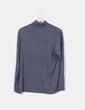 Camiseta gris marengo fluida cuello vuelto Zara