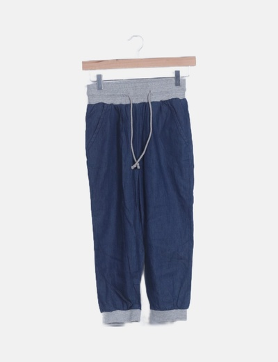 Pantalón crop denim