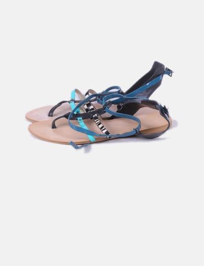 Sandalia plana combinada Zara
