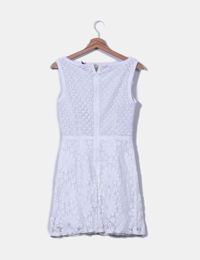 Vestido blanco crochet