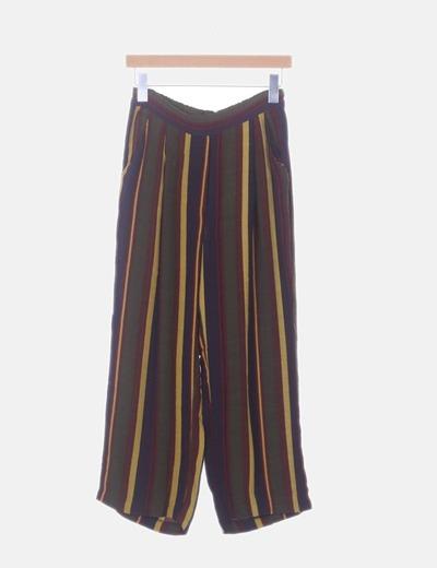 Culotte de gasa con rayas multicolor