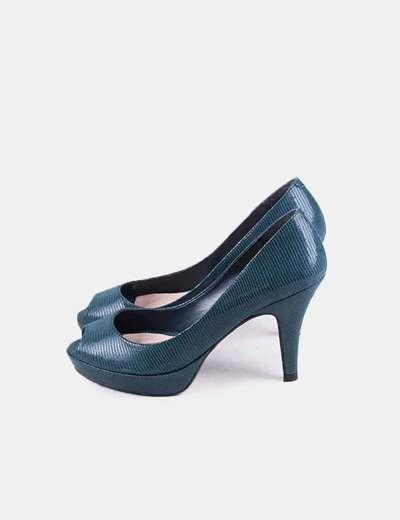 Zapato de tacón verde