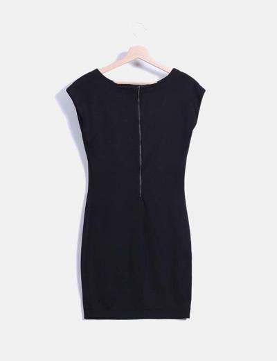 b5047c80c Zara Vestido negro corte recto (descuento 75%) - Micolet