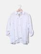 Camisa blanca estrellas bordadas Zara