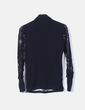 Suéter drapeado negro texturizado Desigual