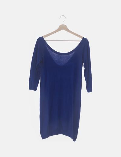 Vestido azul tricot