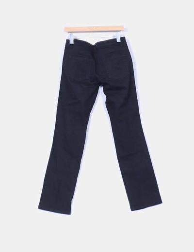 Jeans denim negro recto