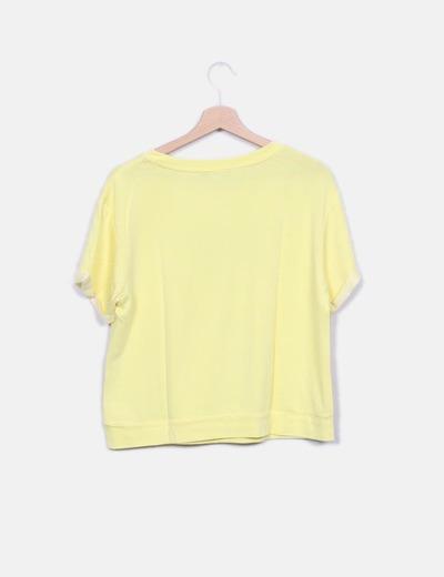 Camiseta amarilla abalorios