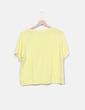 Camiseta amarilla abalorios Color Block