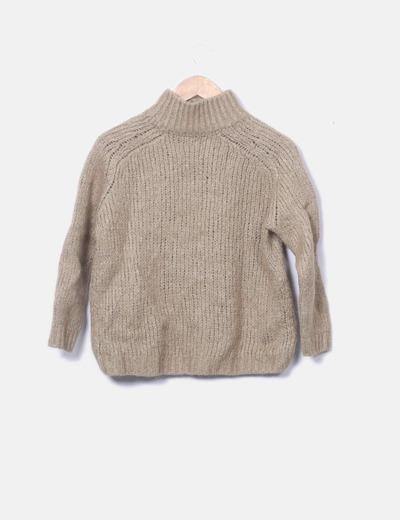 caecde82c5a0 Massimo Dutti Jersey verde tricot con cuello cisne (descuento 79%) - Micolet