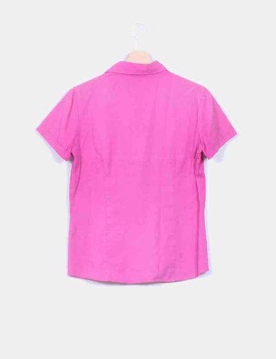 Camisa rosa manga corta