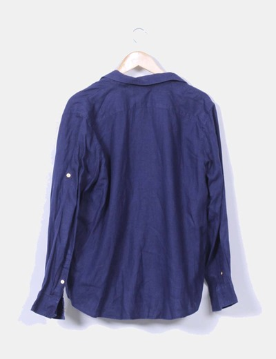 Blusa azul marina abotonada