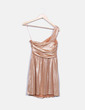 Vestido dourada assimétrico Suiteblanco (Night)