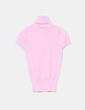 Jersey tricot rosa palo manga corta Stradivarius