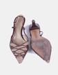 Sandalia de punta marrón destalonada NoName