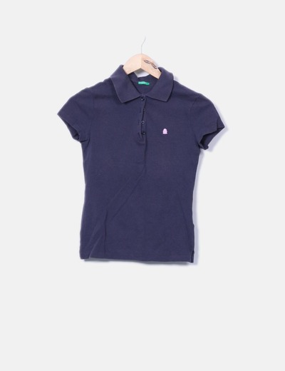 Polo bleu marine Benetton
