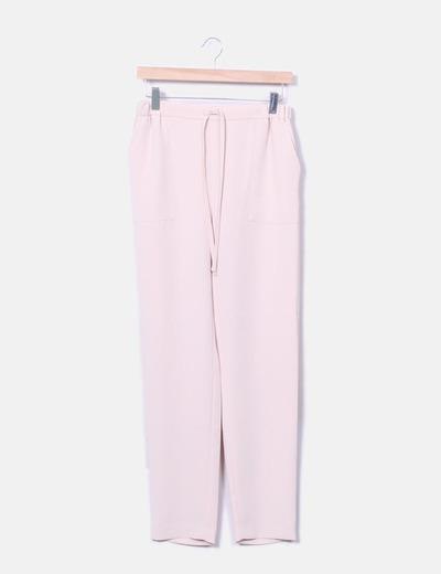 Pantalón rosa pantalón recto