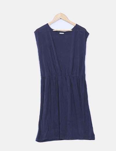 Robe bleue avec déchue Oysho