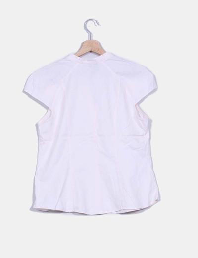Camiseta rosa palo cuello mao