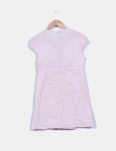 Blusa rosa palo con bordados