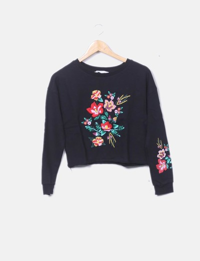 Sweat-shirt noir de cultures H&M