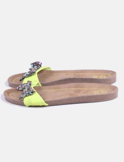 Sandalia plana lazo