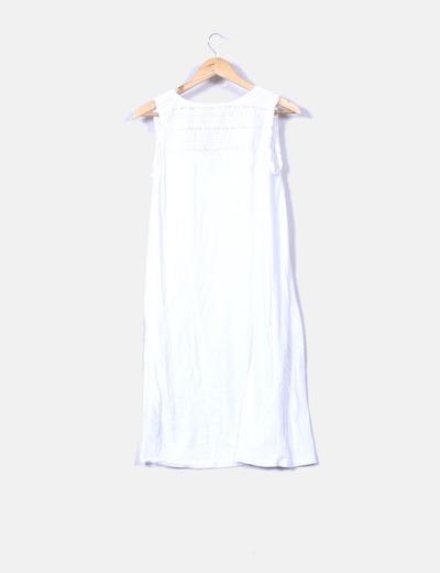 Vestido blanco sin mangas
