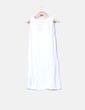 Robe blanche sans manches Oysho