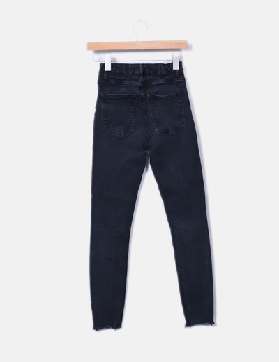 Jeans denim high waist negro