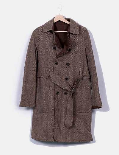 Abrigo largo reversible