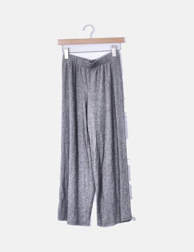 Culotte gris canalé