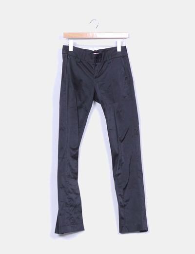 Pantalón raso negro Fornarina