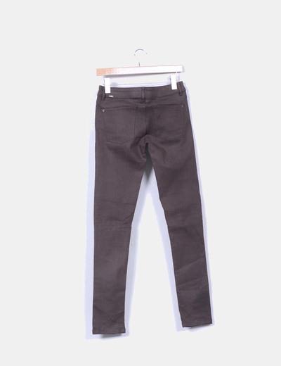 Pantalon verde oscuro skinny