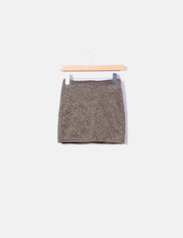 ea387cc5f dorado online Mini Faldas falda tricot baratas Shana qx1zES1f ...