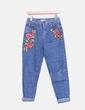 Jeans maman florale en forme Pull&Bear